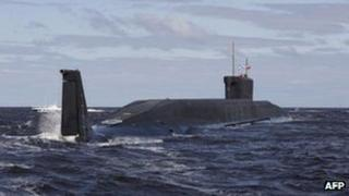 The Russian nuclear submarine Yuri Dolgoruky (file image from 2009)