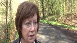 Rosemary Salisbury in country lane