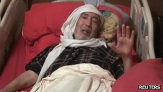 Abdelbaset al-Megrahi at home in Tripoli (October 2011)