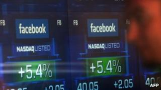 Screen showing Facebook price