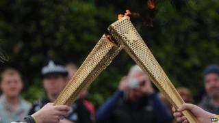 Two London 2012 Olympic torches