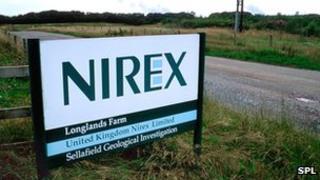 Nirex sign