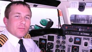 Paul Gibbs at the flight deck of G-UIST