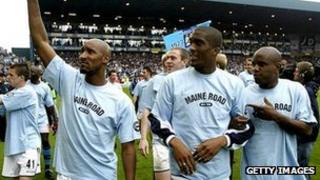Man City players say farewell to Maine Road