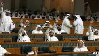 Kuwaiti MPs vote in favour of an amended law stipulates capital punishment for any Muslim found guilty of blasphemy (3 May 2012)