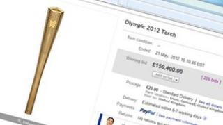Olympic Torch auction on eBay