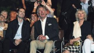 Prince Charles watches fireworks with Ontario Premiere Dalton McGuinty