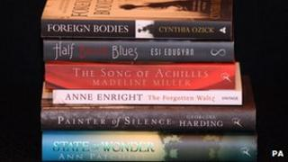 "The shortlist for the Orange Prize for Fiction at The English PEN literary cafe, London Book Fair, Earl""s Court, London."