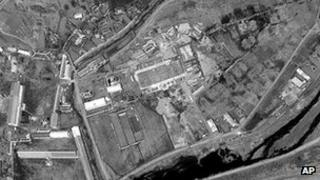 This 29 April, 2012 satellite image provided by DigitalGlobe shows what appears to be the initial stages of construction of a rocket assembly building at Musudan-ri in northeastern North Korea.