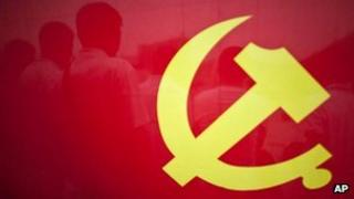 A Chinese Communist Party flag shown in Yanan, in China's northwestern province of Shaanxi (file photo)