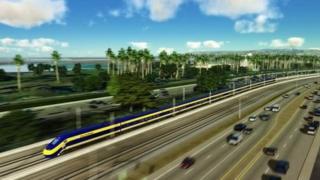 California bullet train drawing
