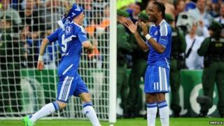 Fernando Torres and Didier Drogba