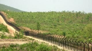 Border fencing between India and Burma