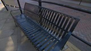 A bench on Westgate Street