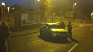 The security forces are attending a security alert in the Creggan area