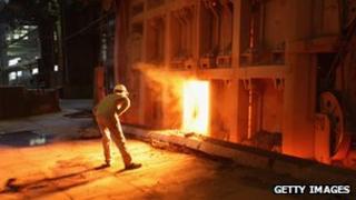 German steel production