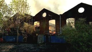 Fire at furniture factory