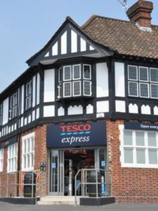 Tesco Express store in the former Friendship Inn, Knowle