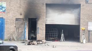 Industrial unit where the explosion happened