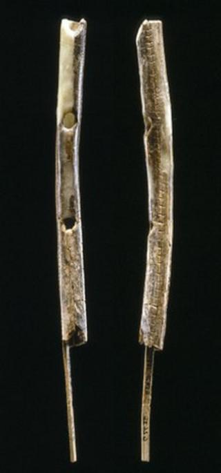 Mammoth ivory flute