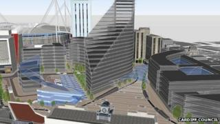 Artist's impression of Central Business District