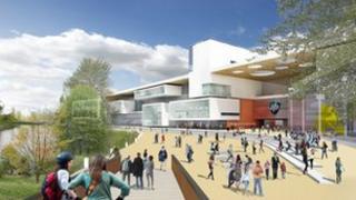 Artist's impression of Northampton University campus