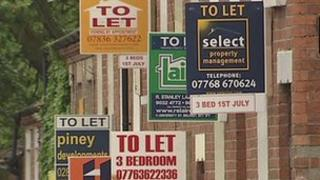 'To let' signs