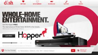 Screengrab of Dish Network home page