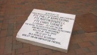 Royal Gloucestershire, Berkshire and Wiltshire memorial plaque
