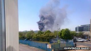 Fire in Kelvin Way, West Bromwich