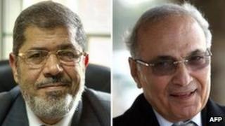 Mohammed Mursi and Ahmed Shafiq