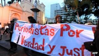 Protest march in Tegucigalpa in May 2012