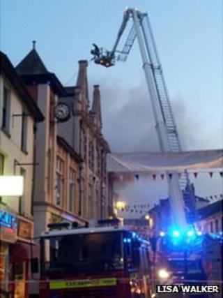 Fire in Brixham