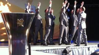 Only Men Aloud perform at Singleton Park