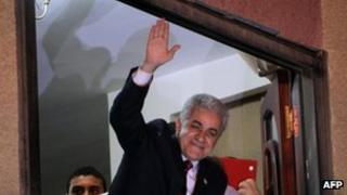 Hamdin Sabbahi speaks to his supporters in Cairo on May 25, 2012