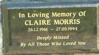 Plaque to Claire Morris