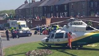 the Great North Air Ambulance Service in Consett