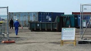 Guernsey's Longue Hougue Recycling site