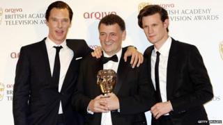 Matt Smith and Steven Moffat at the BAFTAs