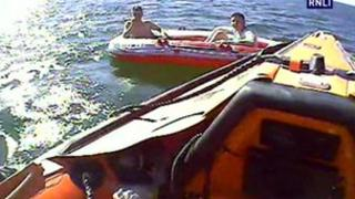 Dinghy rescue in Blackpool