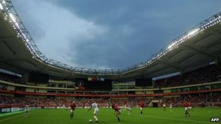 File photo: Hongkou Stadium in Shanghai