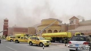 Firefighters tackle blaze at Villaggio centre in Doha
