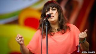 Rumer performing at Glastonbury Festival 2011