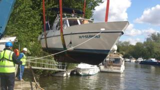 A yacht was seized during the raids