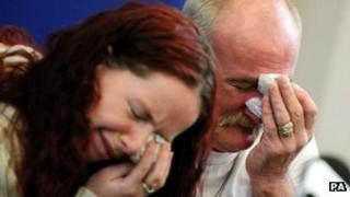 Mairead and Mick Philpott at a previous news conference