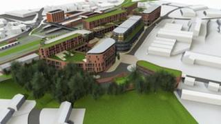 Artist's impression of new development at Sherrif Street in Worcester