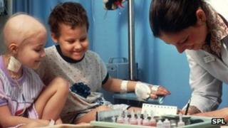 Child having chemotherapy