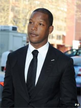Titus Bramble arriving at Teesside Crown Court