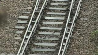 Single track rail line