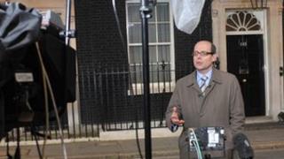 Nick Robinson outside 10 Downing Street